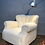 Thumbnail: Fritz Hansen of Denmark Lounge Chair Model 1518b from the 1940s in Lambs Wool