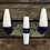 Thumbnail: Vintage Ifö of Sweden Ceramic Bathroom Lamps with Opaline Shades from the 1960s