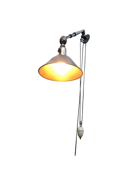 Antique Triplex Work Lamp From The 1920s