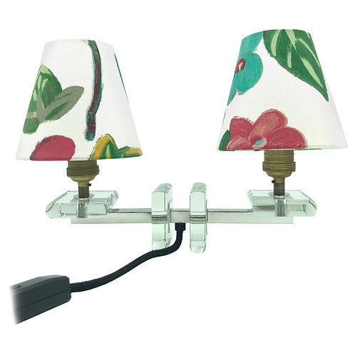 Very Stylish French Art Deco Table Lamp in Glass