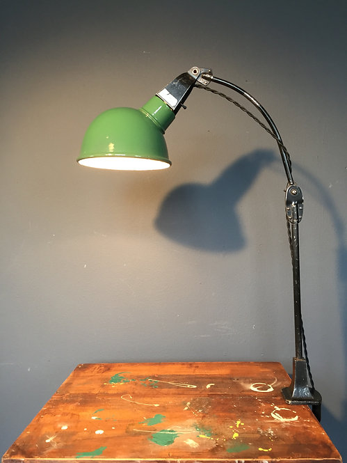 Mid century Walligraph industrial task lamp