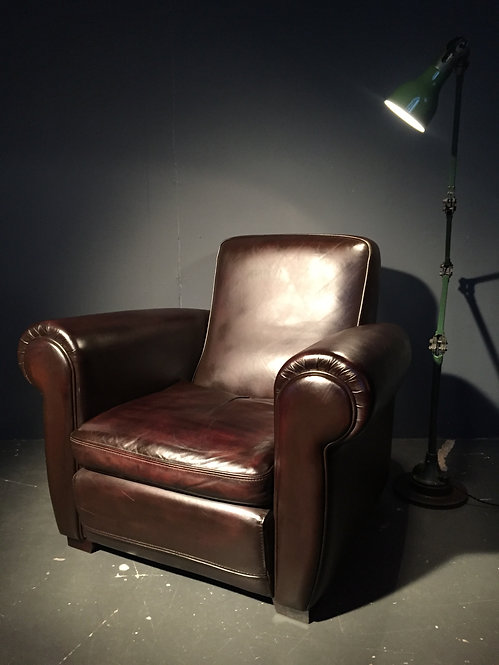 Ox leather club chairs