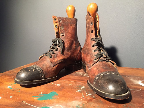 Turn of the century leather boots
