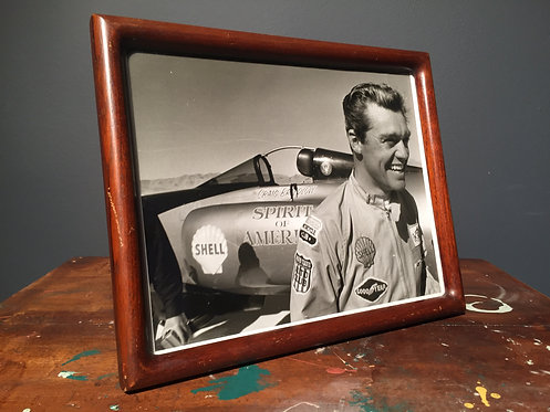 1964 Shell promo picture of world land speed holder Craig Breedlove