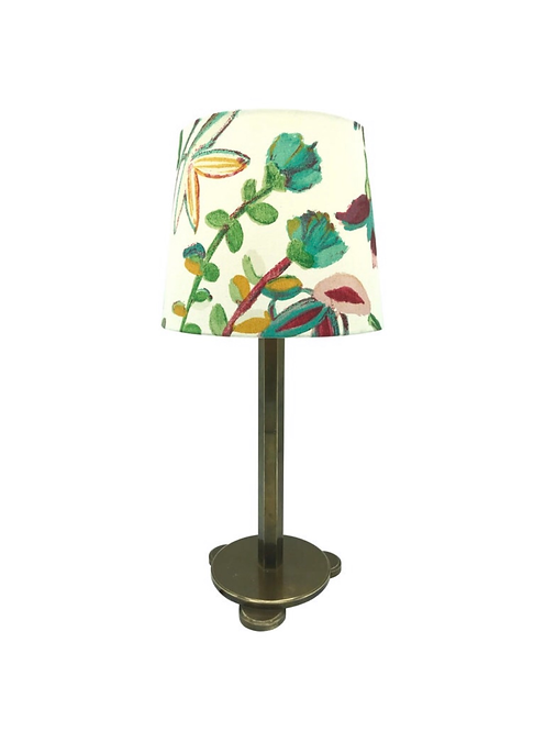 Solid Brass Art Deco Table Lamp from the 1920s