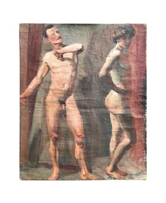 Antique Art School Nude Study