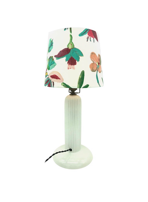 1930s Michael Andersen Ceramic Table Lamp With An ArtbyMaj Lampshade