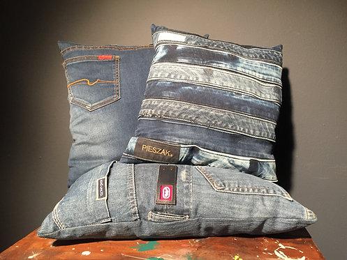 Recycled denim cushions