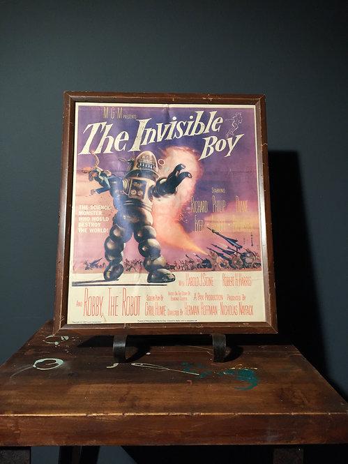 """The Invisible Boy"" Sci-Fi film poster"