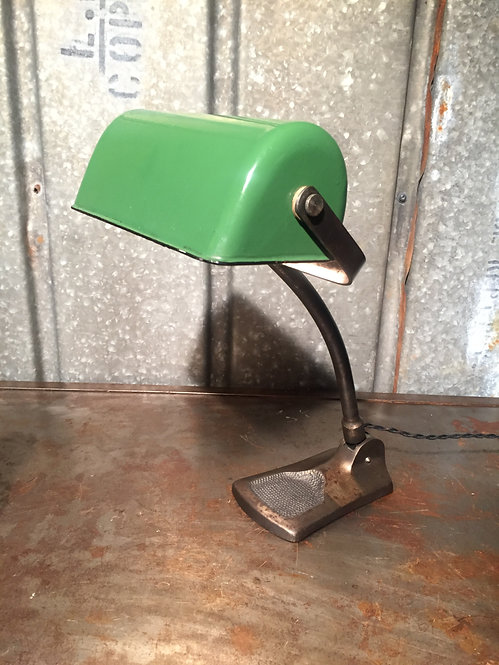 1930s Bankers Table Lamp