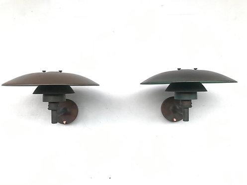 Poul Henningsen 4.5/3.5 copper wall lamp