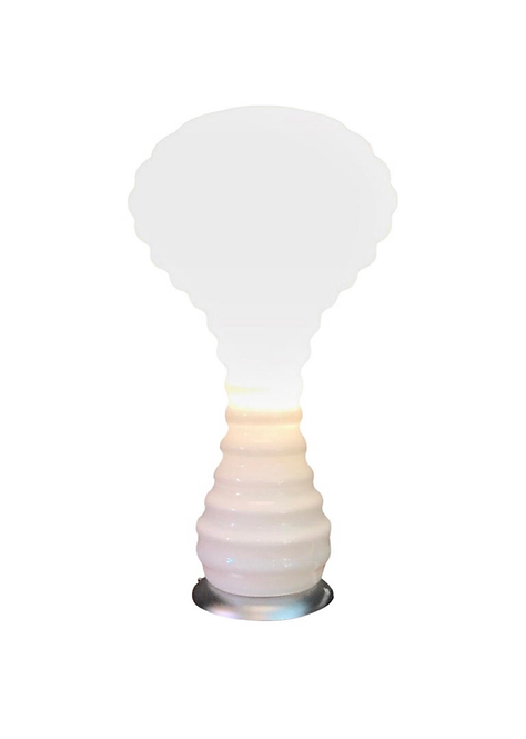 Stunning Verner Panton Table Lamp in Hand Blown Opaline Glass for Holmgaard