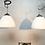 Thumbnail: Vintage Vilhelm Lauritzen for Louis Poulsen Opaline Bell Pendent Chandeliers