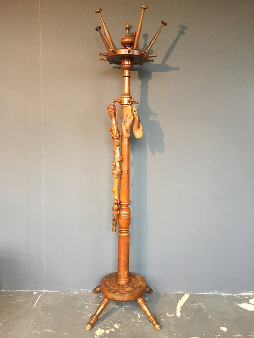 Mid century wooden hat stand