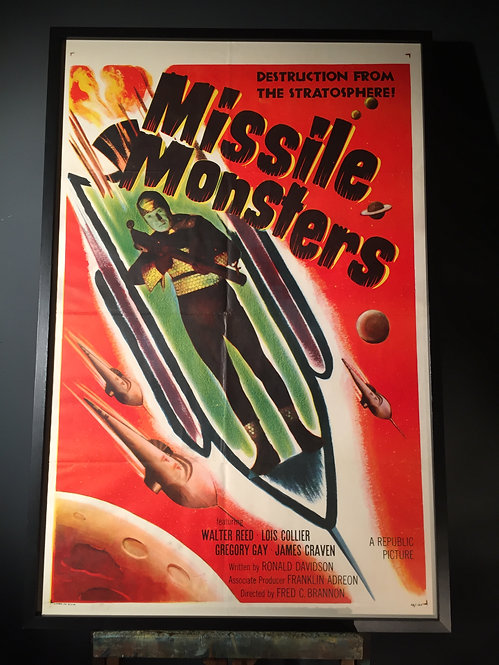 Sci-Fi movie poster Missile Monsters