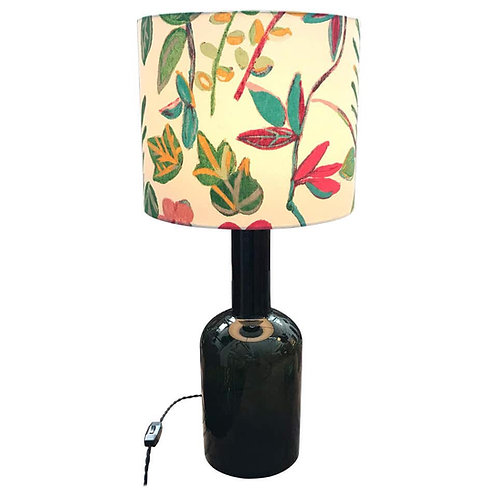 Large Vintage Otto Bauer Glass Vase Table Lamp
