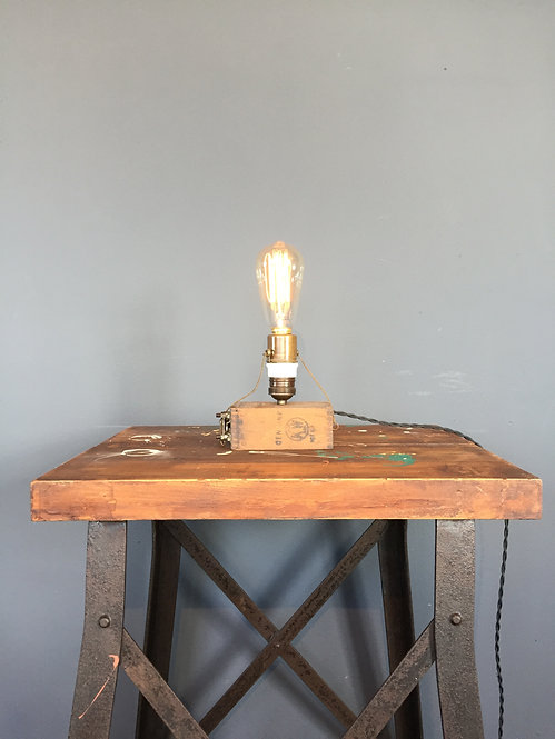 Ford battery box table lamp