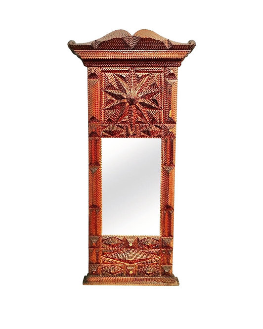 Amazing Antique Tramp Art Mirror From The Turn Of The Century