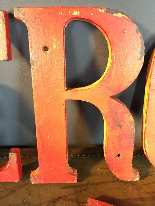 Cast iron letters