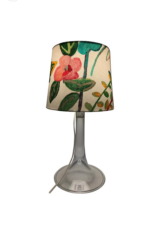 Vintage Holmegaard Table Lamp With A Limited Edition ArtbyMaj Lamp Shade