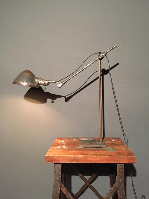 O C White industrial task lamp