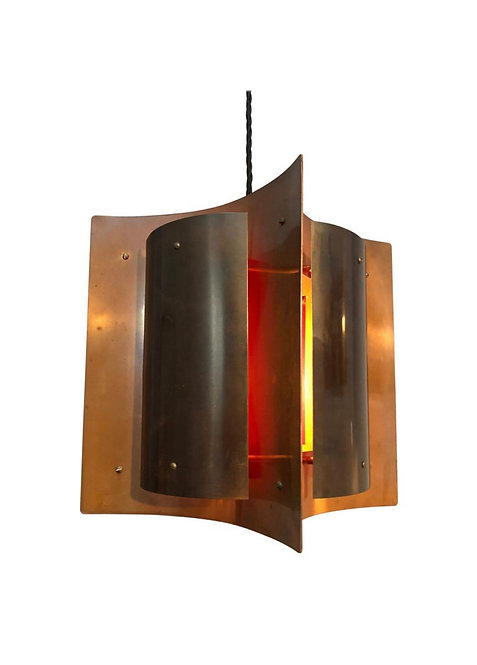 Beautiful Midcentury Danish Pendent Lamp in Copper