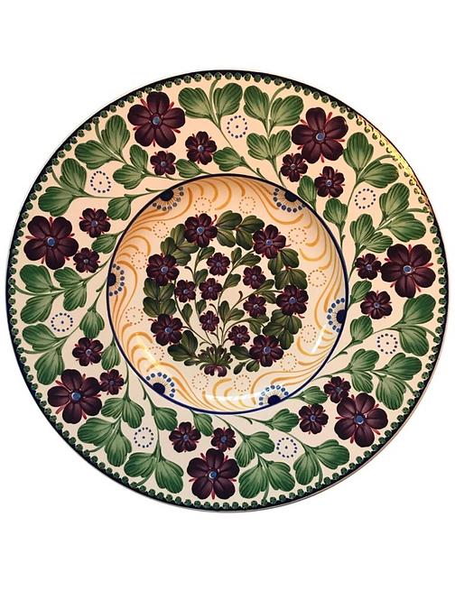 Large and Rare Antique Aluminia Copenhagen Faience Bowl Platter
