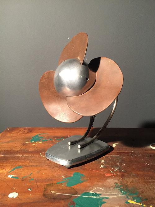 Mid century cast aluminum bullitt nosed fan