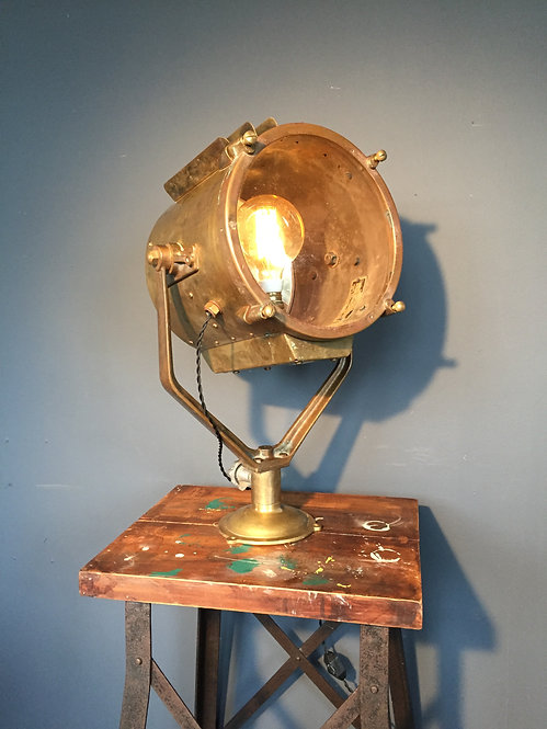 Mid century Francis searchlight in brass