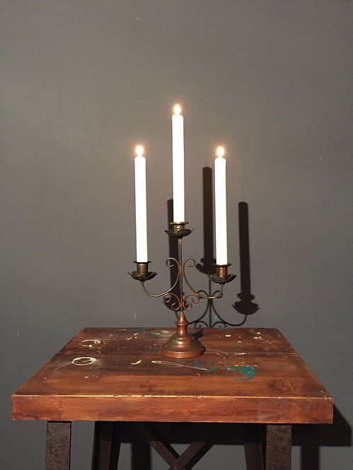 French brass candle holder