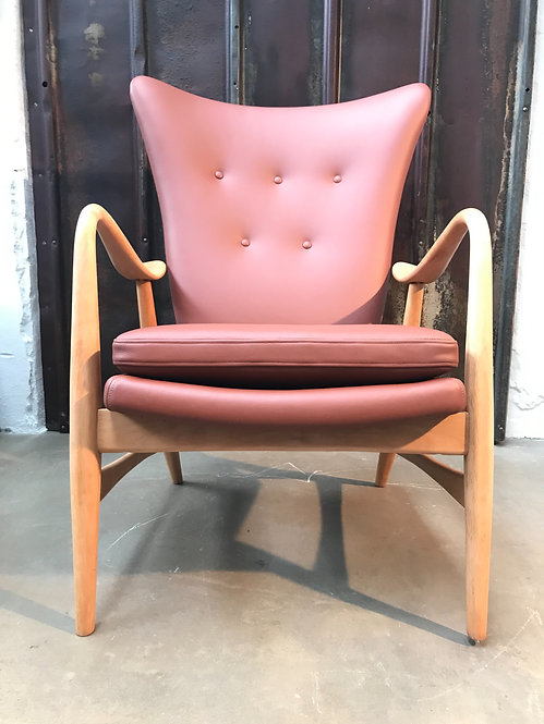 Vintage Lounge Chair In The Style Of Madsen & Schubell