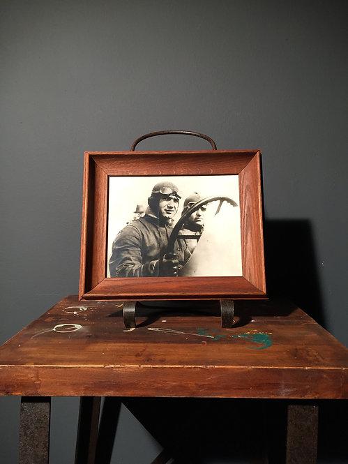 Press photo of Ralph De Palma in his Ballot race car