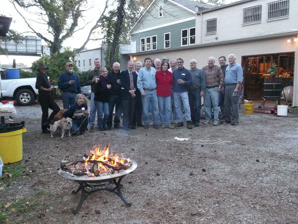 Members and firepit