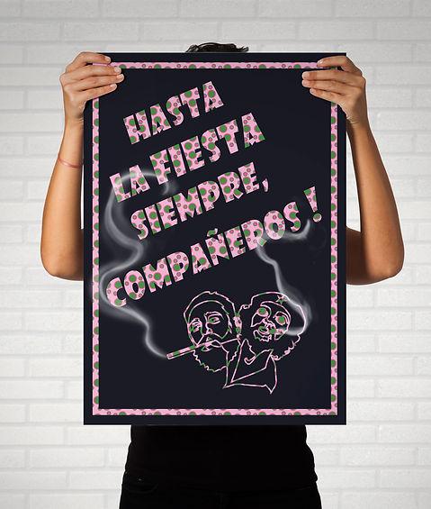 Affiche soirée Cuba graphisme design graphique