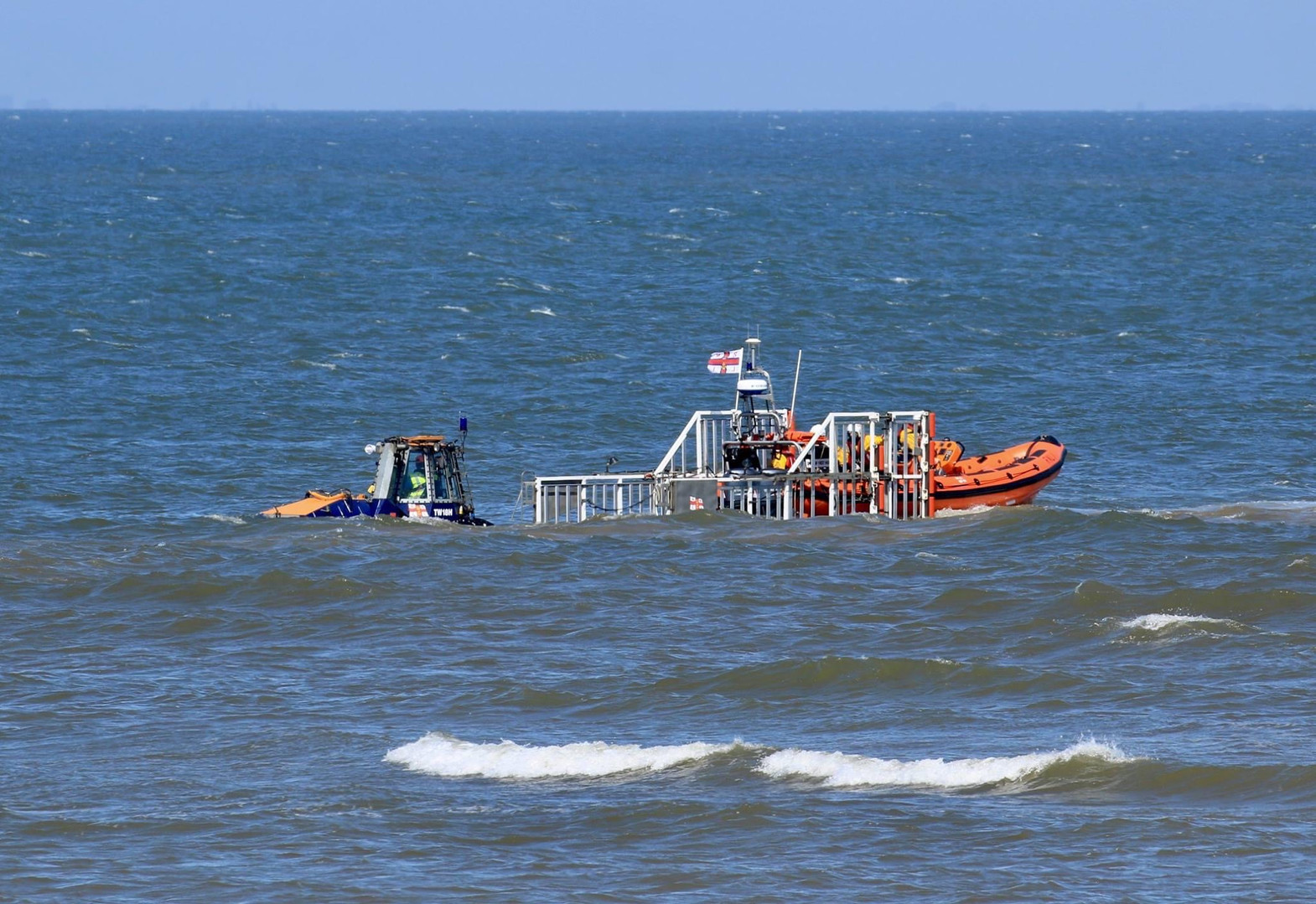 RNLI lifeboat launch Old Hunstanton