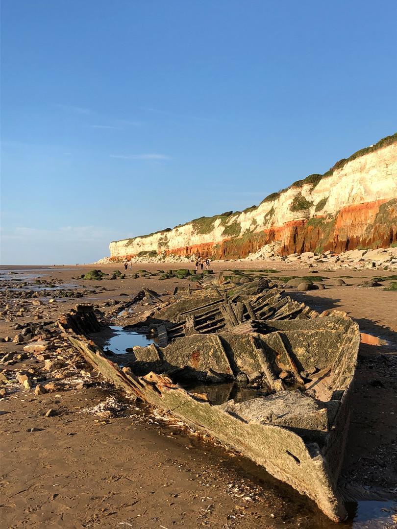 Wreck of The Sheraton on Old Hunstanton beach