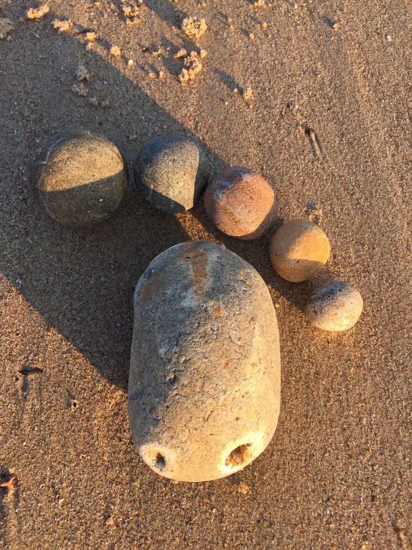 Pebble foot, Old Hunstanton beach