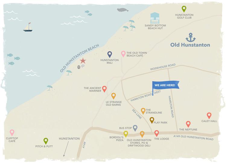 Sea-Glimpse Old Hunstanton map