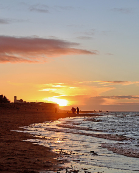 Old Hunstanton beach sunset