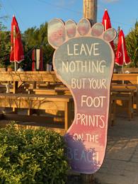 The Old Town Beach Café sign