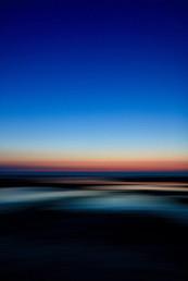 Melting sunset over Old Hunstanton beach