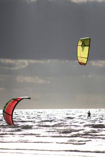 Windsurfers Old Hunstanton beach