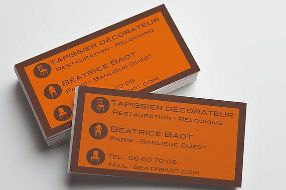 carte de visite, business card, tapissier, carré, graphisme, design graphique