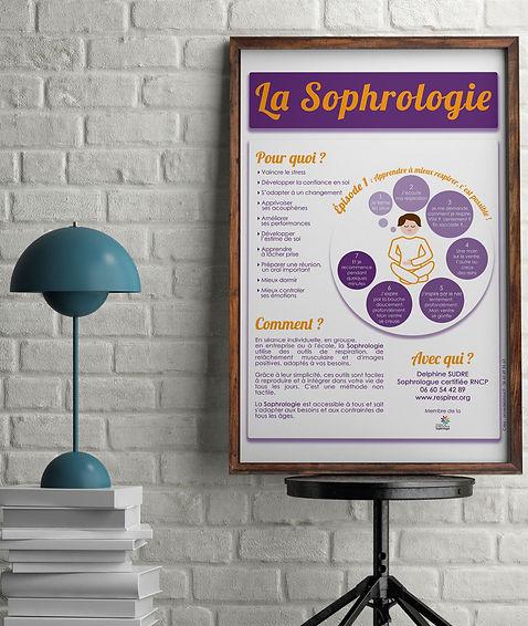Affiche sophrologie graphisme design graphique