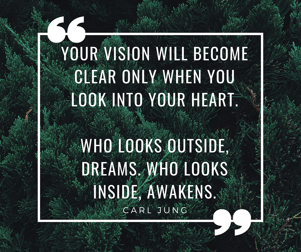 Quote: 'Your vision will become clear only when you look into your heart. Who looks outside, dreams. Who looks inside, awakens.' Carl Jung