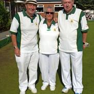 WEBC 2021 - Triples Champions - Barry Bryant, Trevor & Linda Lofty