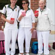 Captains Day 2021  In the Ditch Winners Graham Baker, Christina Ross & Bernard Shambrook