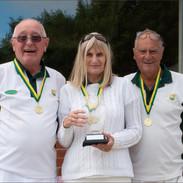 Captains' Day 2021 Winners Roger Dixon, Jan Fernandez & Bob Cole