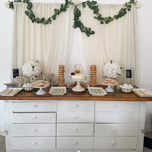 Minimalist Wedding Treats Table
