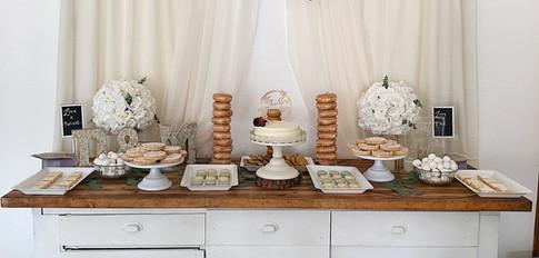 Minimalist Wedding Treats Table